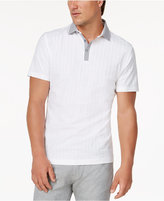 Alfani Men's Grid-Pattern Polo, Created for Macy's