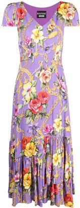 Boutique Moschino Floral Chain Print Dress