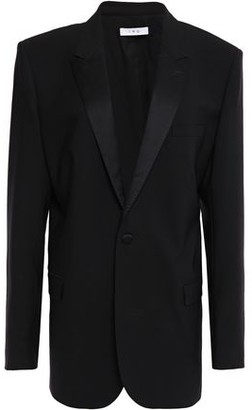 IRO Urla Satin-trimmed Wool-blend Blazer