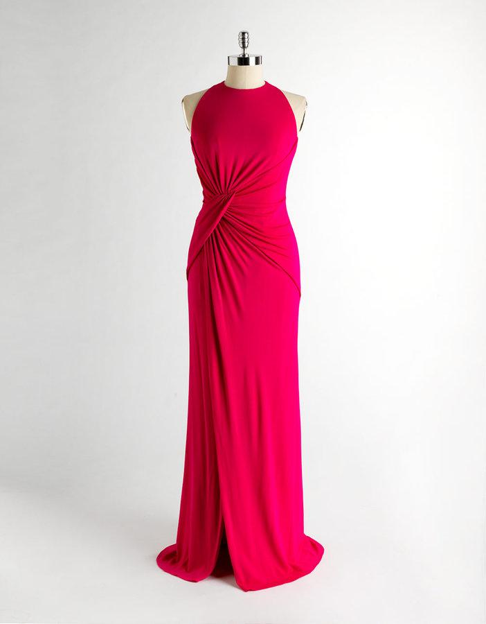 Carmen Marc Valvo Halter Gown