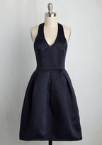 ModCloth A Sight to Remember Fit and Flare Dress in Midnight in XS
