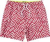 River Island Boys red geo swim trunks