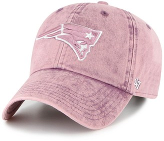 Women's '47 Purple New England Patriots Snow Cone Clean Up Adjustable Hat
