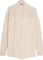 Splendid Ridge Frayed Knitted Cardigan - Beige