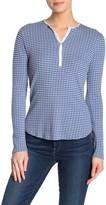 Lucky Brand Striped Pointelle Henley Shirt