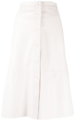 Semi-Couture Front Button Skirt