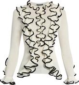 Alexander McQueen Contrast ruffle-trimmed cardigan