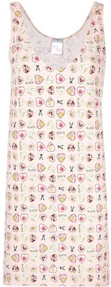 Chanel Pre Owned Heart Print Dress