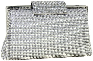 Whiting & Davis Crystal-Clasp Clutch