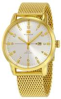 Tommy Hilfiger George Silver Dial Gold-tone Mesh Men's Watch 1791210