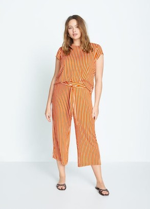 MANGO Violeta BY Belt culottes trousers orange - S - Plus sizes