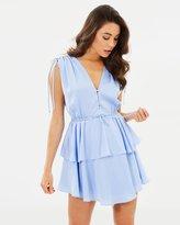 Shona Joy Calypso Ruched Peplum Mini Dress