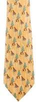 Hermes Silk Beaver Print Tie