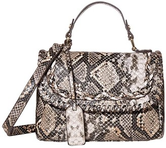 Sole Society SOLE / SOCIETY Destin Crossbody Messenger (Natural Snake) Clutch Handbags