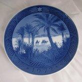 Royal Copenhagen Porcelin Christmas Plate - In the Desert