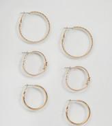 Reclaimed Vintage Inspired 3 Pack Knot Hoop Earrings