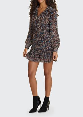 Veronica Beard Jaylene Paisley-Print Ruffle Dress