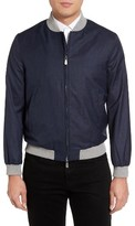 Eleventy Men's Piana Linen & Wool Bomber Jacket