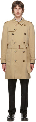 Burberry Beige Kensington Heritage Mid-Length Trench Coat