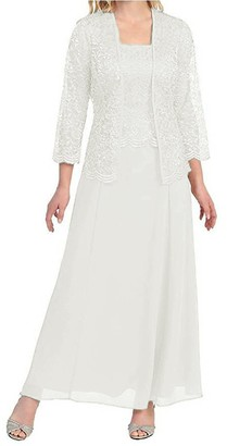 Pretygirl Womens Lace Mother of The Bride Evening Prom Dress Long Formal Gown with Jacket(US 20W
