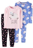 Just One You® made by Carter Toddler Girls' 4-Piece Snug Fit Cotton Pajama Set Sheep - Just One You Made by Carter's®