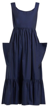 Binetti Love Simple Minds Tiered Cotton Dress - Womens - Blue