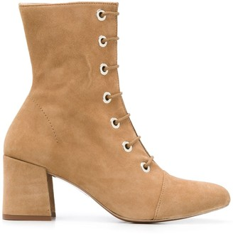 ALEXACHUNG Fach lace-up ankle boots