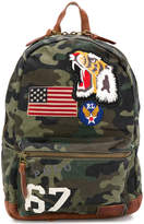 Polo Ralph Lauren applique patch camouflage backpack