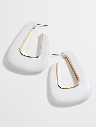BaubleBar Clairese Resin Hoop Earrings