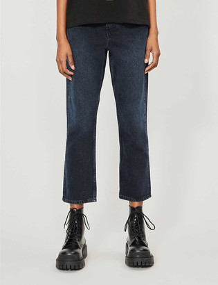 Topshop Editor tapered mid-rise jeans