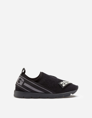 Dolce & Gabbana Terry Cloth Sorrento Slip-On Sneakers With Patch