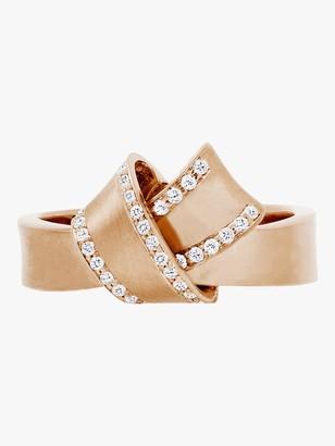 Carelle Knot Diamond Trim Ring