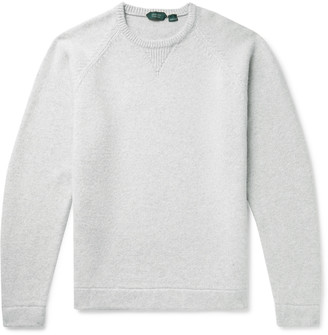Incotex Brushed Wool and Cashmere-Blend Sweater - Men - Gray