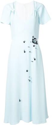 DELPOZO Embellished Midi Dress
