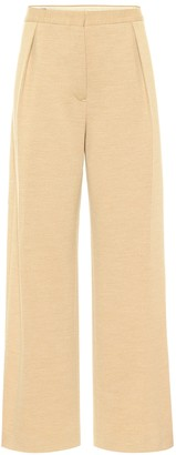 Jil Sander High-rise straight wool-jersey pants