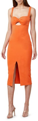 Significant Other Paloma Cutout Front-Slit Dress