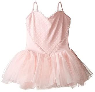 Bloch Heart Mesh Camisole Tutu Dress (Toddler/Little Kids/Big Kids) (Candy Pink) Girl's Dress