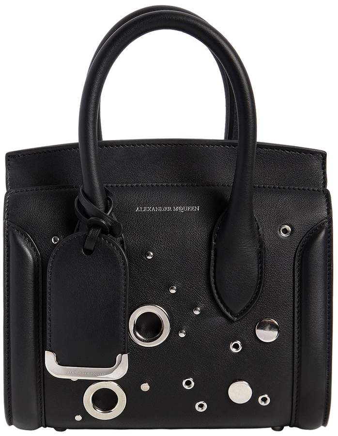 Alexander McQueen Mini Leather Heroine Bag W/ Eyelets