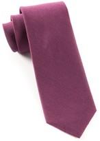 The Tie Bar Solid Wool Wine Tie