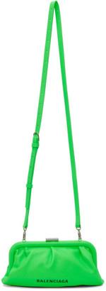 Balenciaga Green XS Cloud Clutch