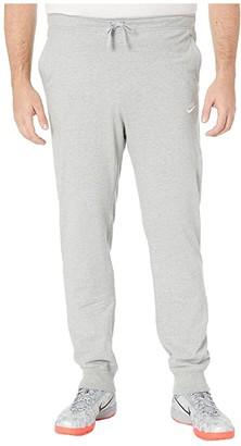 Nike Big Tall NSW Club Jogger Jersey (Dark Grey Heather/White) Men's Casual Pants