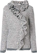 Lanvin ruffled knitted top