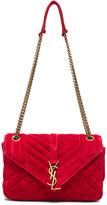 Saint Laurent Medium Suede Chain Bag
