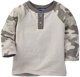 Andy & Evan Color Blocked Henley Top (Baby Boys)