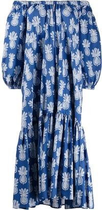 La DoubleJ Paloma pineapple-print dress