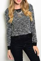 Adore Clothes & More Black Striped Sweater