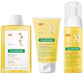 Klorane Blond Hair Set: Shampoo, Conditioner, Mousse with Chamomile