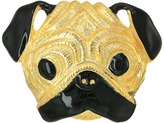 Kenneth Jay Lane Gold/Black Pug Pin Brooches Pins