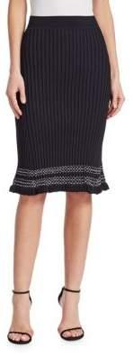 Altuzarra Gwendolyn Contrast Trim Knit Skirt