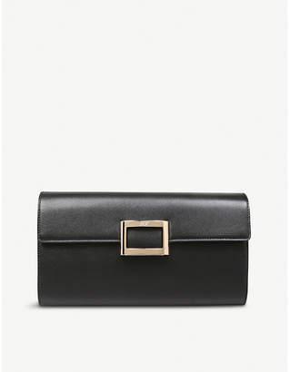 Roger Vivier Viv Envelope leather clutch